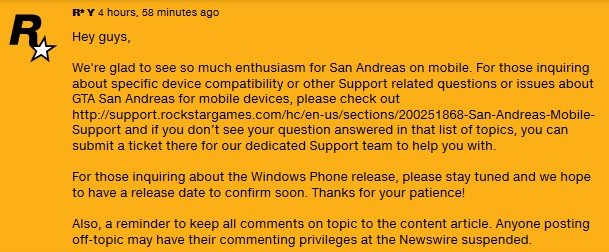 GTA San Andreas WP soon