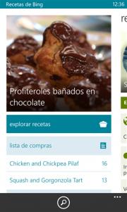 Recetas de Bing Beta, otra aplicación de Microsoft ya disponible