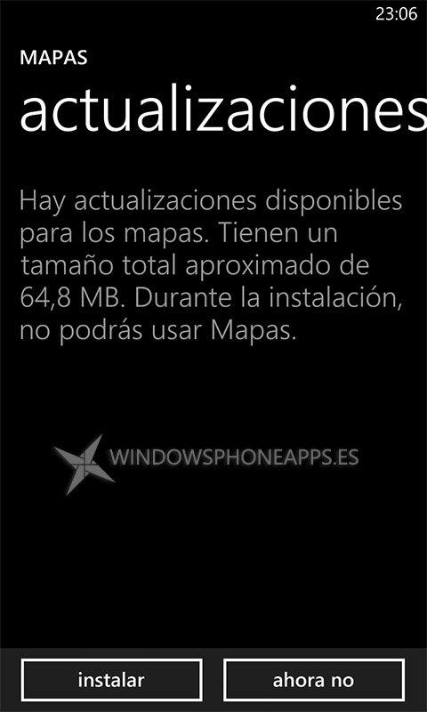 Actualización mapas offline