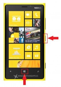 Captura de pantalla en Windows Phone 8