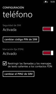 Como configurar la Marcación Fija FDN en Windows Phone