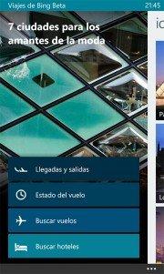 Viajes de Bing Beta una nueva aplicación de Microsoft ya disponible