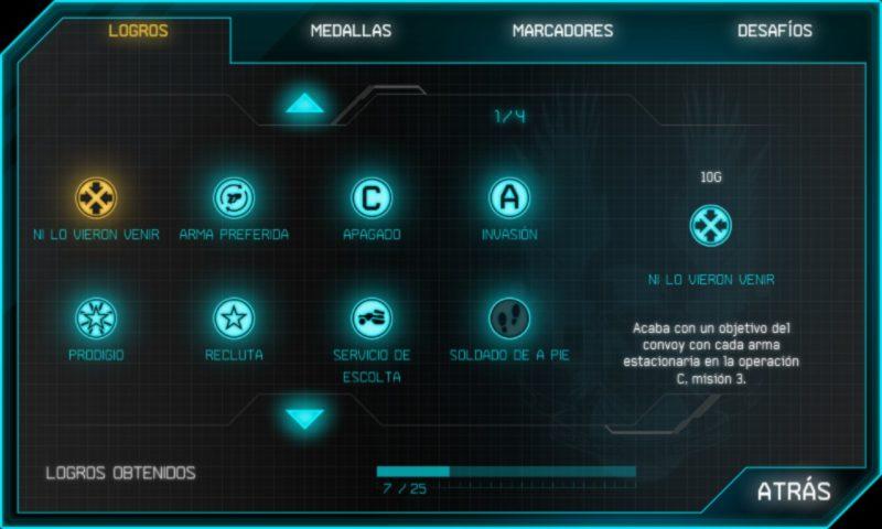 Halo: Spartan Assault manual de logros 1