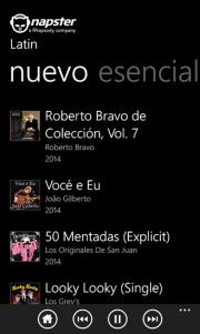 Napster disponible para Windows Phone