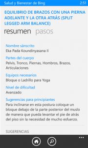 Salud y Bienestar de Bing una nueva aplicación de Microsoft ya vista en el SDK WP8.1