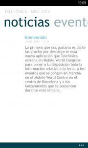 Telefonica presenta su aplicación MWC 2014 para Windows Phone
