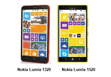 Lumia  1520 - Lumia 1320