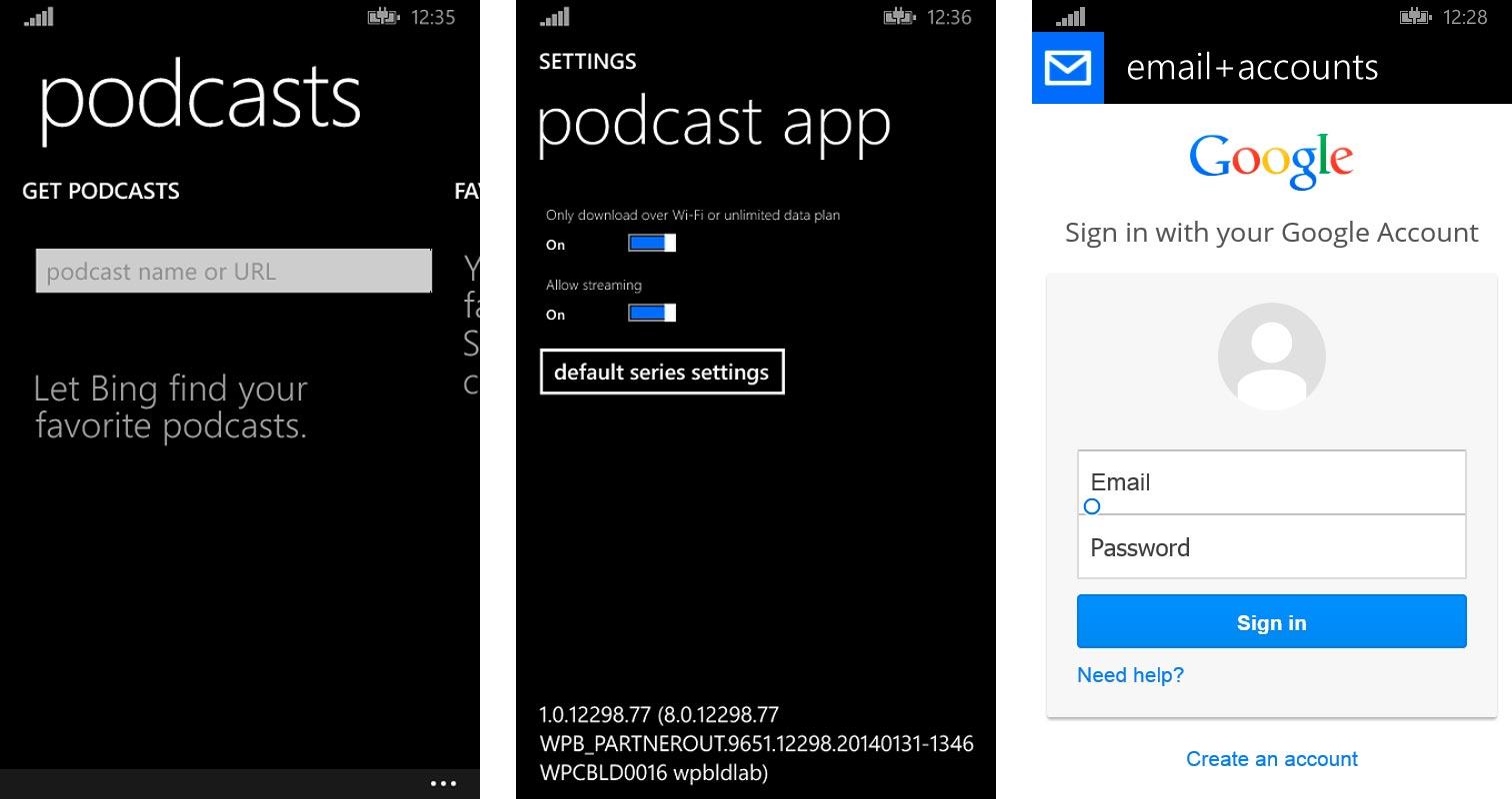 Ajustes de Podcasts y OAuth