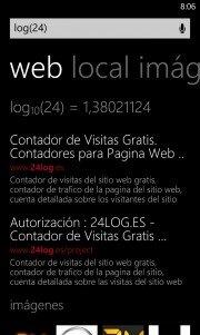 El motor de busqueda Bing para Windows Phone añade calculadora científica