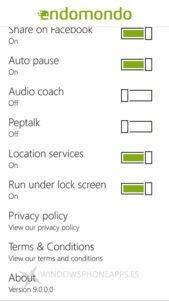 Endomondo Beta para Windows Phone, primeras imágenes y funciones