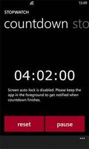 Stopwatch, llega el cronometro de Nokia para Lumia WP8