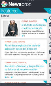 Newscron: todas las noticias en tu Windows Phone