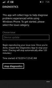 Diagnostic la nueva aplicación de Microsoft
