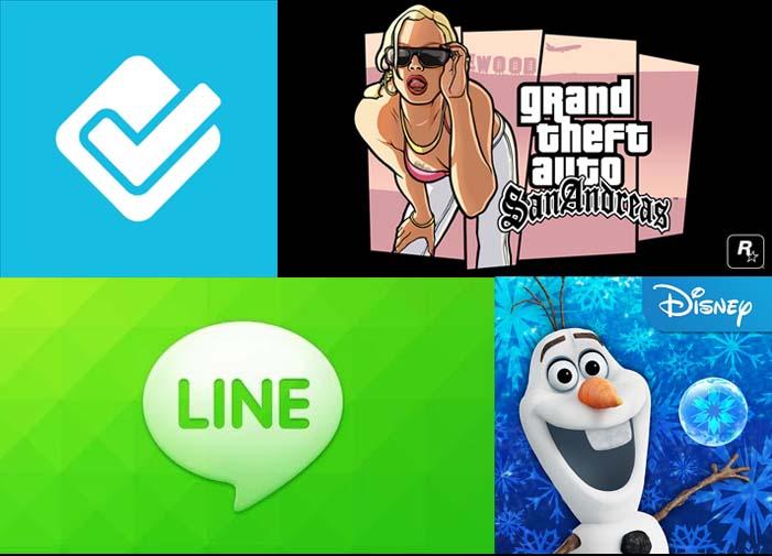 GTA: San Andreas, Line, Foursquare, entre otras actualizaciones para hoy