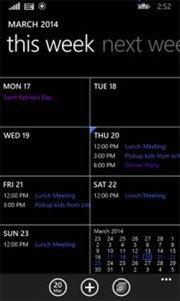 Calendario para Windows Phone 8.1 se actualiza solucionando errores