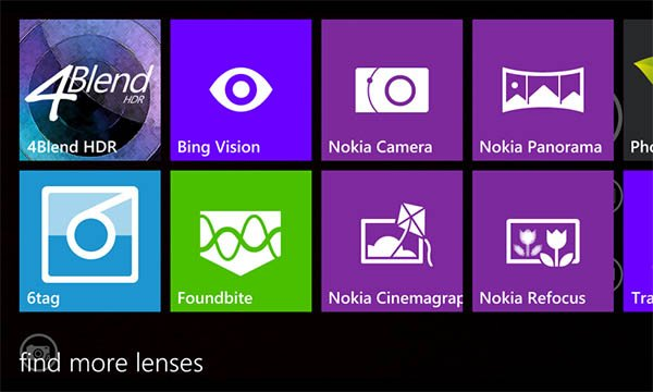 camara windows phone 81 - lentes