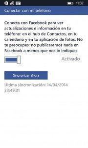 Facebook para Windows Phone 8.1