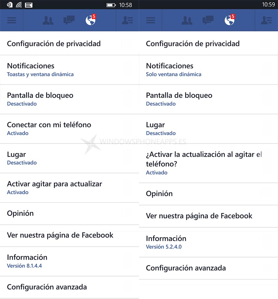 Facebook para Windows Phone 8.1