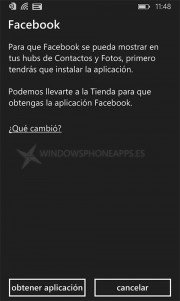 instalar Facebook en WIndows Phone 8.1