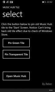 Recupera el Hub de Música de Windows Phone 8 para WP8.1