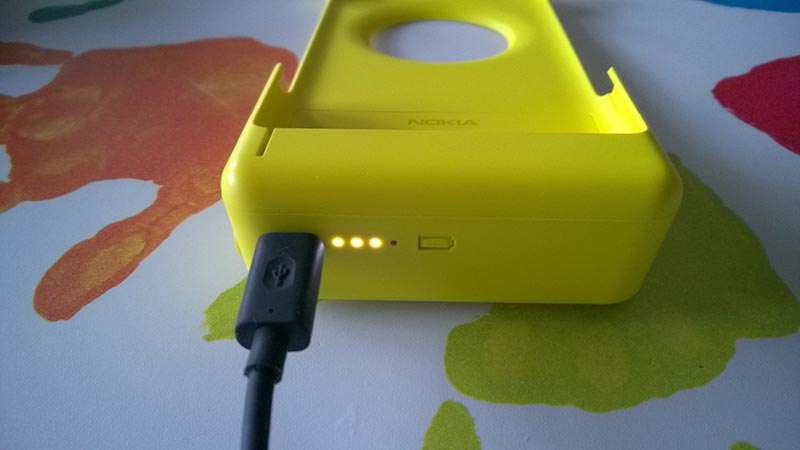 Nokia Camera Grip leds de carga