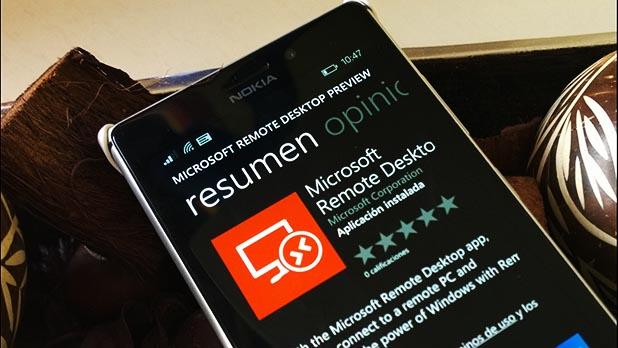 Microsoftt Remote Desktop, nueva aplicación para Windows Phone 8.1