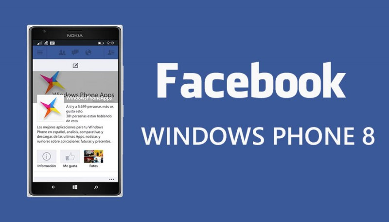 Facebook para WIndows Phone 8