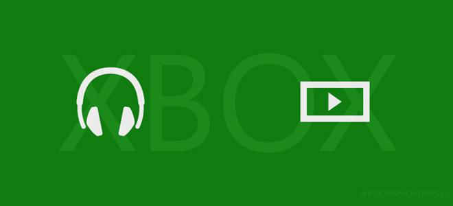Xbox Música y Xbox Vídeo