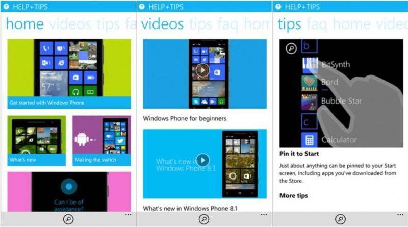 Help and Tips la aplicacion de Microsoft que resuelve tus dudas sobre Windows Phone 8.1