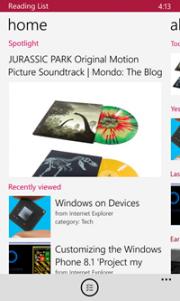 Lista de Lectura, aplicación de Windows 8 ahora para Windows Phone 8.1