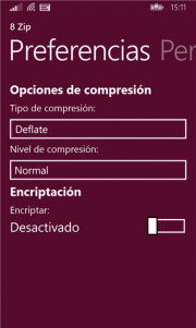8 Zip comprime y descomprime archivos desde tu Windows Phone