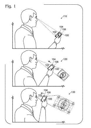 Patente de Microsoft para Pantalla sensible a la distancia al ojo