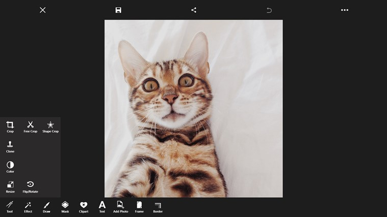 PicsArt Windows 8.1 editor