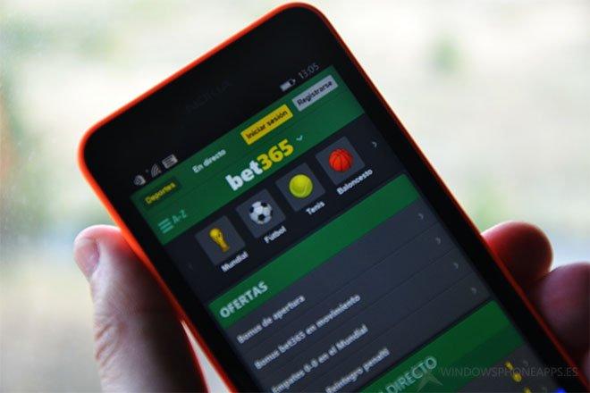 Bet365 para Windows Phone