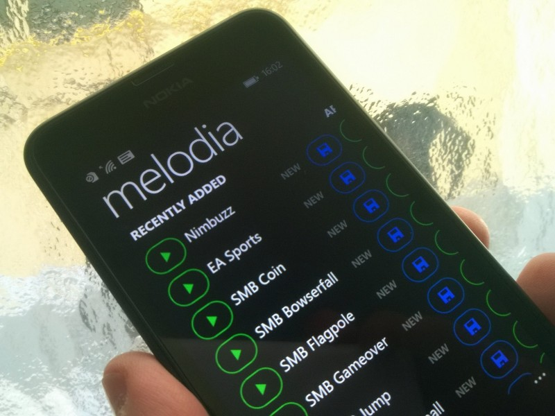Melodía para Windows Phone 8.1