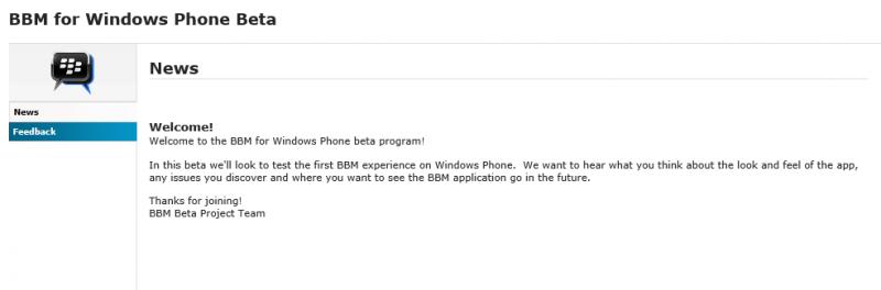 Blackberry abre el programa de pruebas de BBM Para Windows Phone