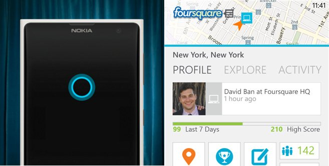Foursquare-cortana