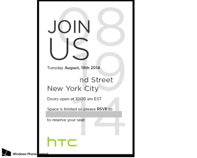 HTC Invitacion