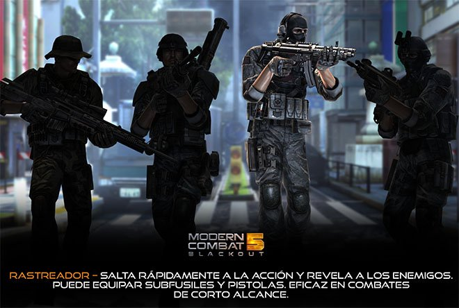 Rastreador - Modern Combat 5: Blackout