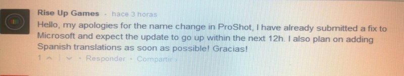 Proshot en Español