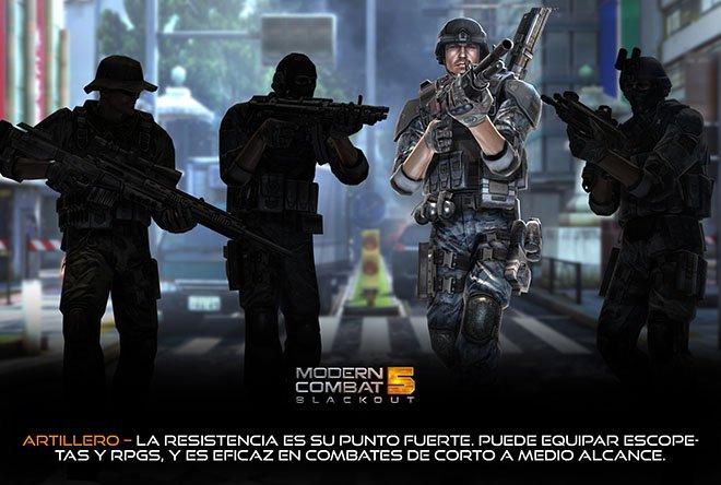 Artillero - Modern Combat 5: Blackout