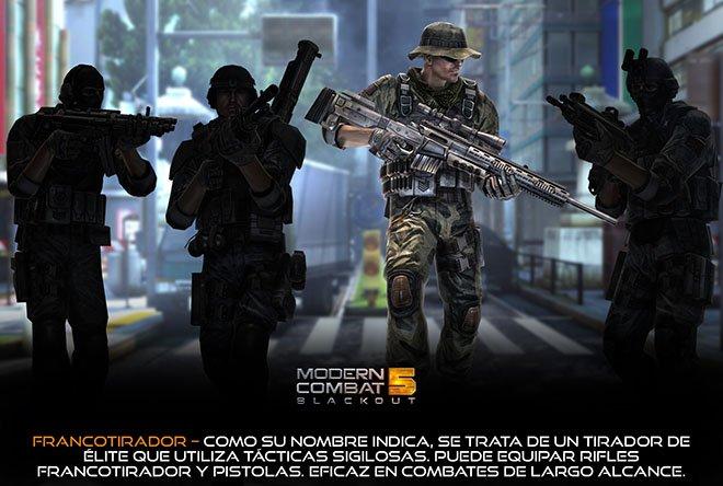 Francotirador - Modern Combat 5: Blackout
