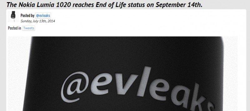 Lumia 1020 fin de vida