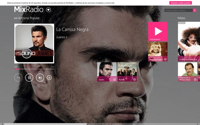 MixRadio para Windows 8