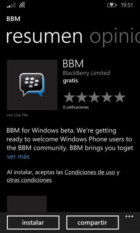BBM para Windows Phone
