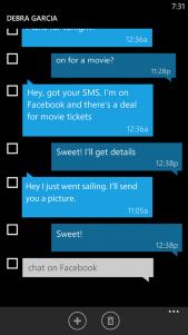 Mejoras en los SMS