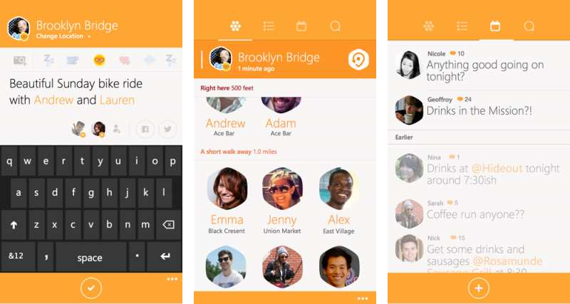 Capturas de pantalla de Swarm para Windows Phone
