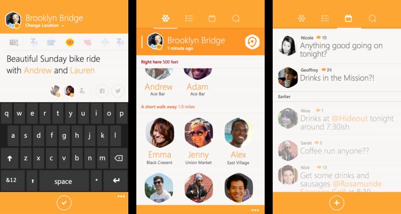 Capturas de pantalla de Swarm para Windows Phone
