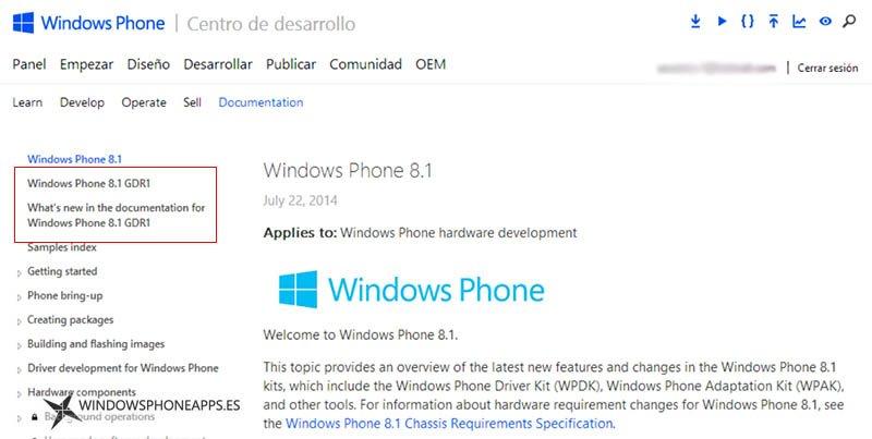 Windows Phone 8.1 GRD1