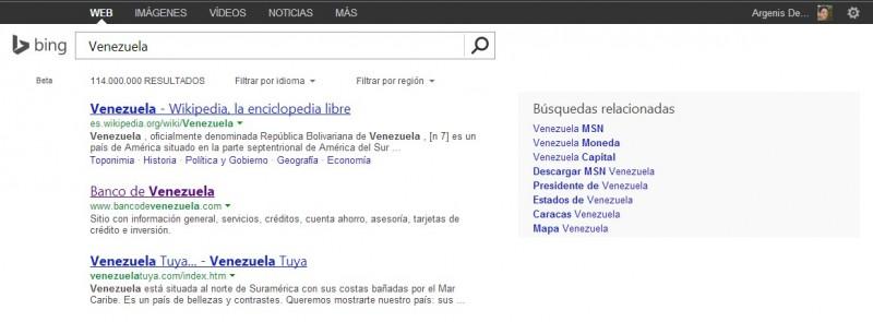 Bing Venezuela